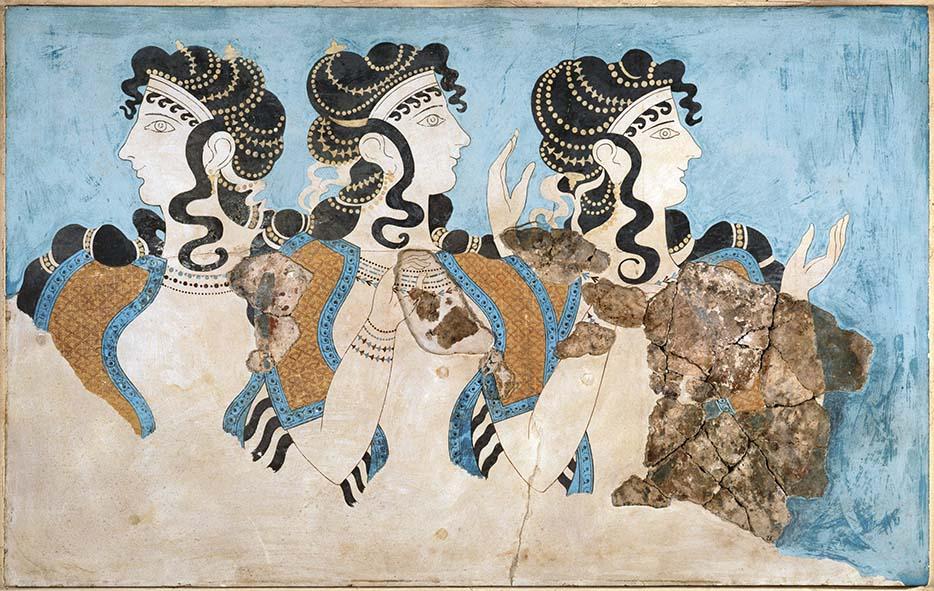 "The ""Ladies in Blue"" Fresco"